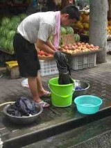 small street laundry
